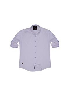 Cosplay Oxford Slim Büyük Beden Dar Kalıp Katlanabilir Kollu Gömlek